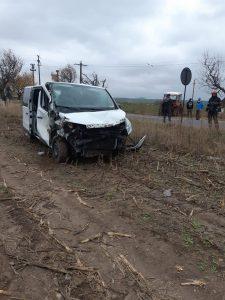 Barbat de 56 de ani ranit intr-un accident rutier.