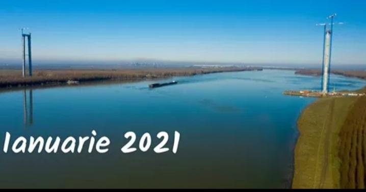 Podul peste Dunăre – turnul de pe malul tulcean a depășit 162 de metri