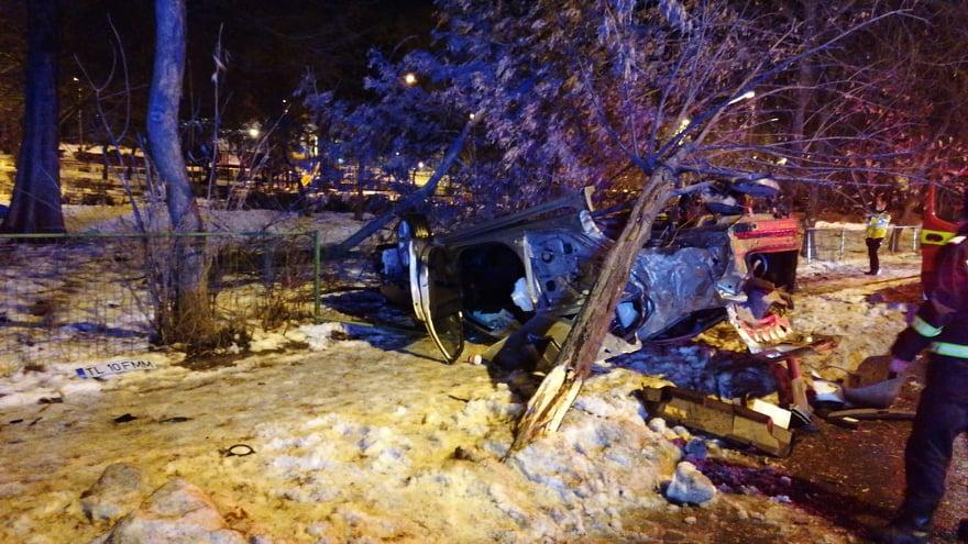 Accident spectaculos azi noapte în municipiu