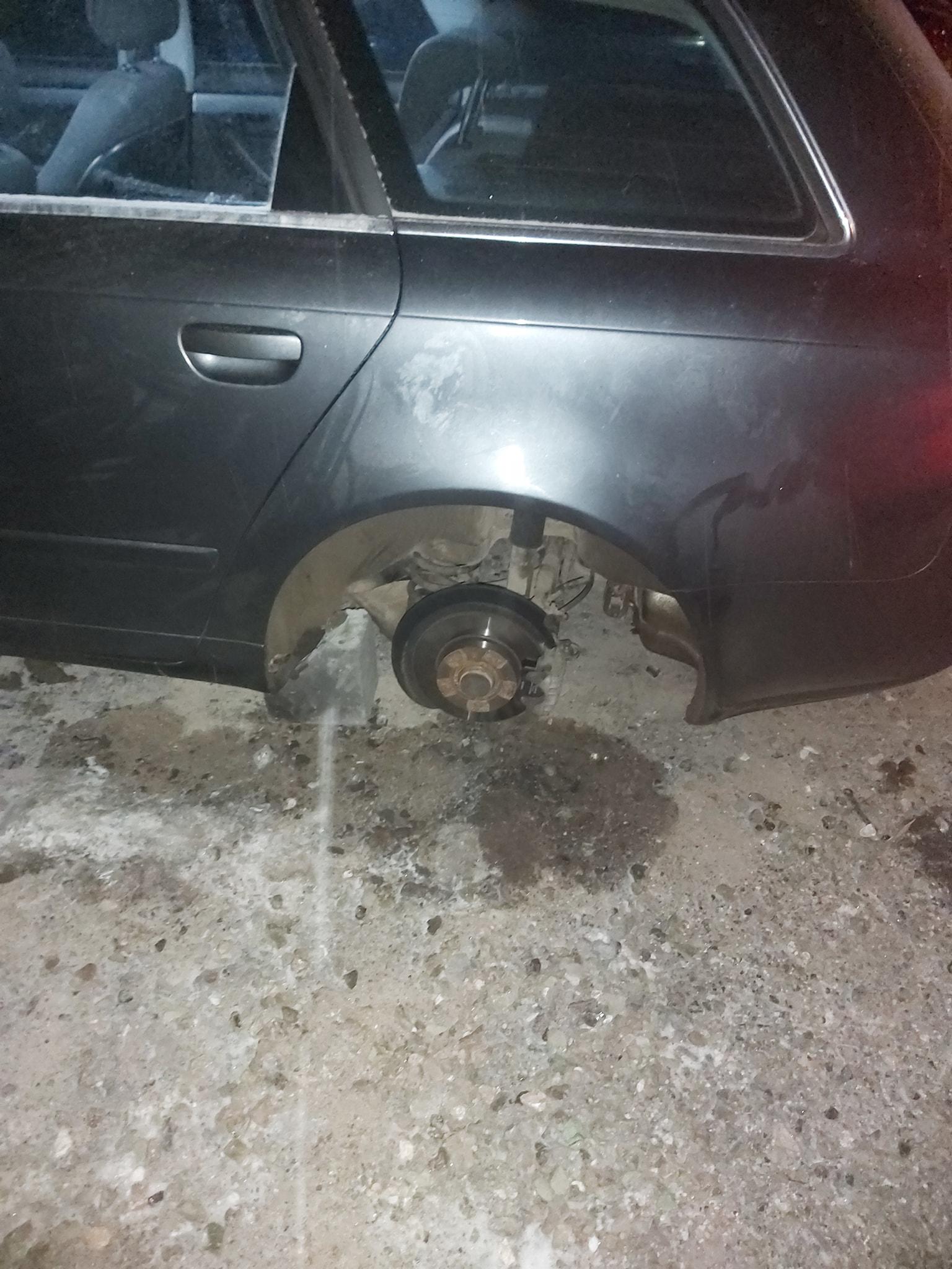 I-au lăsat mașina fără roți peste noapte