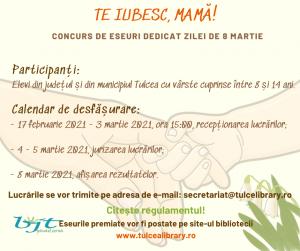 """""""TE IUBESC, MAMĂ!"""" – Copiii tulceni sunt invitați la un nou concurs de eseuri"""