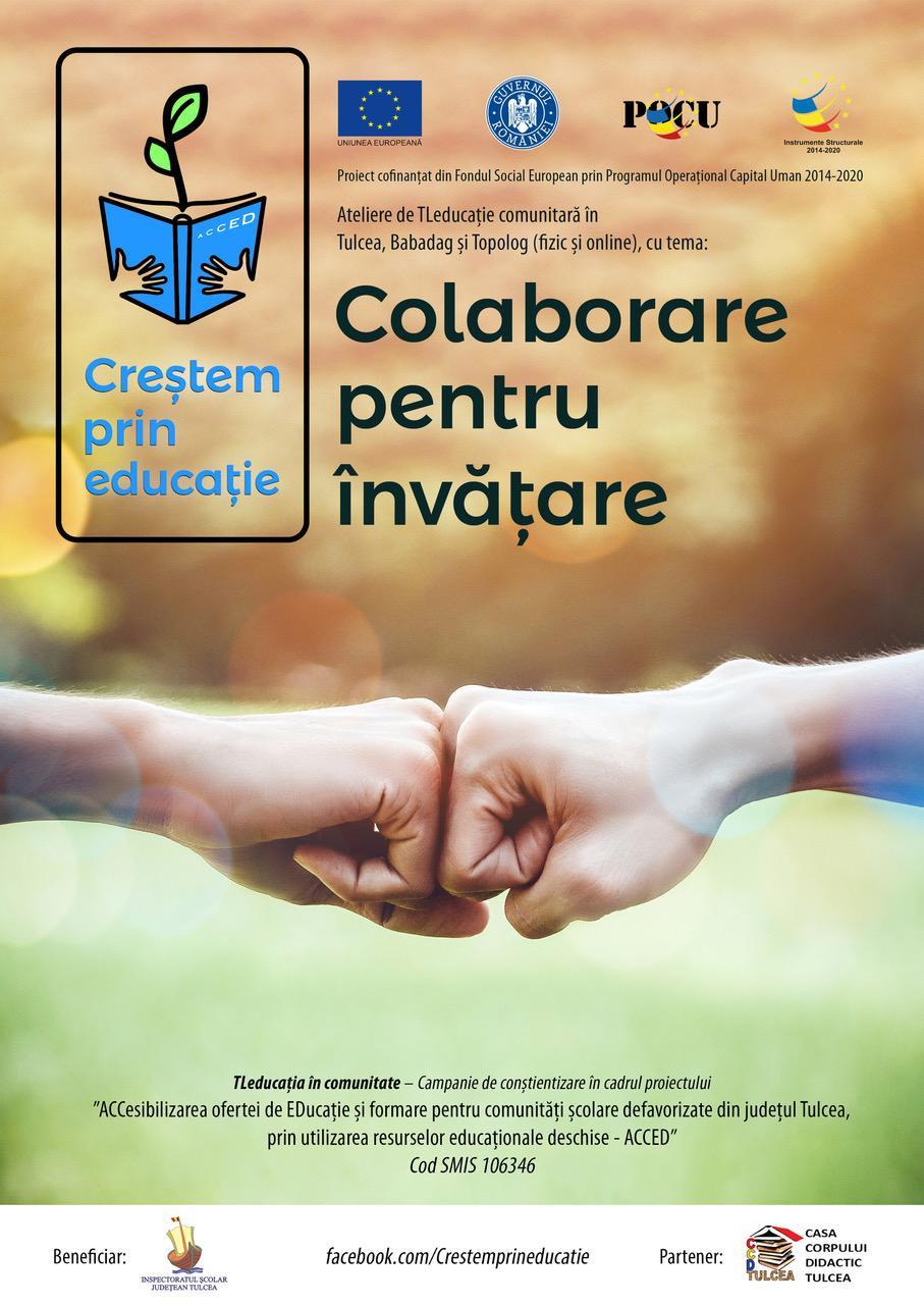 """""""Colaborare pentru învățare"""" – ateliere ACCED pentru elevi și profesori tulceni"""