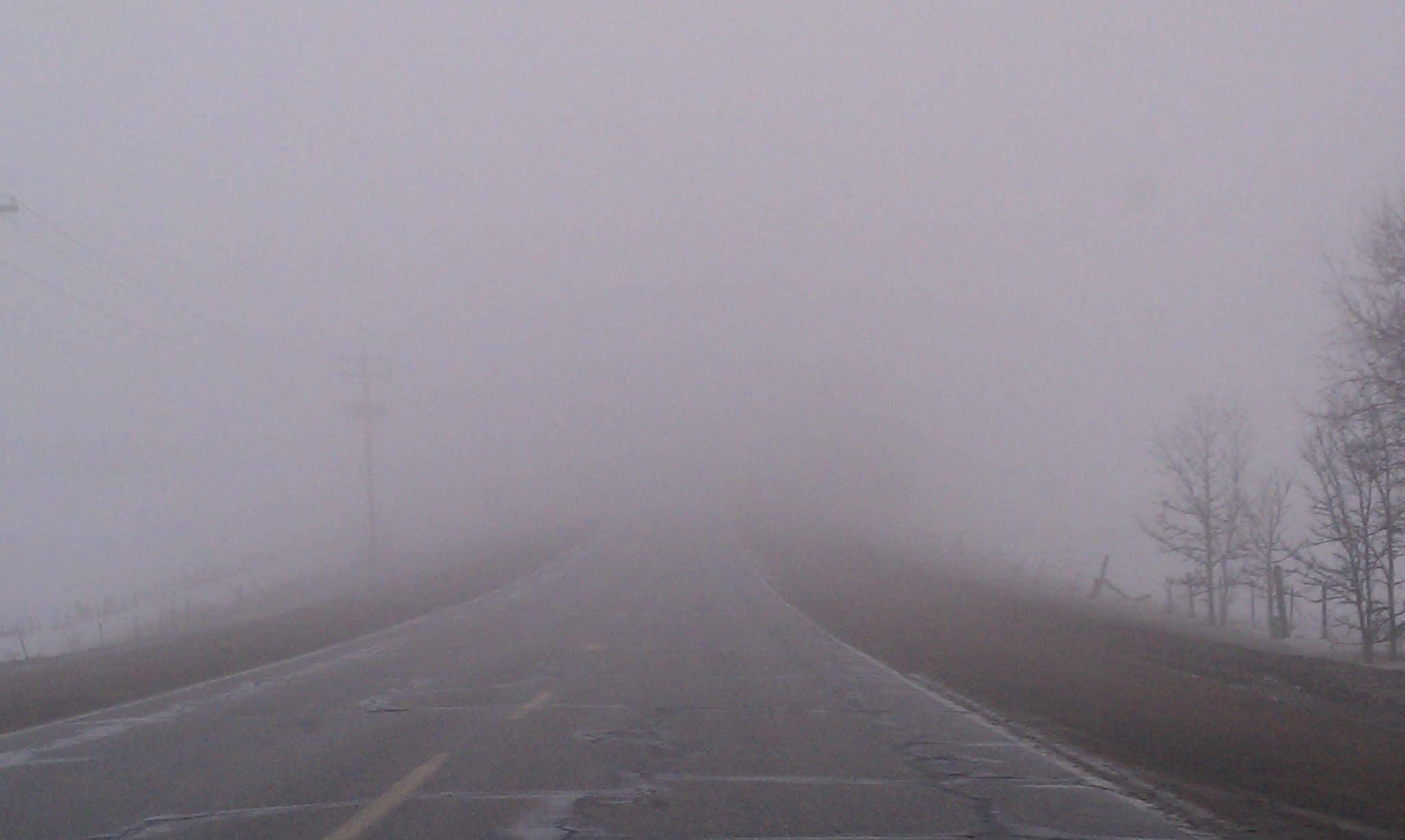 Cod galben de ceață până la ora 10