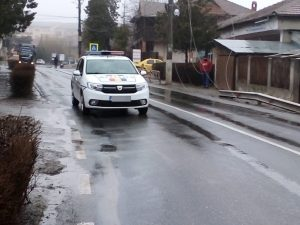 Un accident rutier a blocat artera principală din Isaccea timp de 4 ore