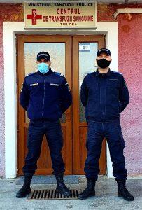 """Urmează exemplul jandarmilor tulceni : """"Donează sânge pentru viață""""!"""