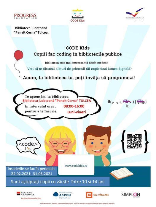 """Viitorii programatori formați la Biblioteca Județeană """"Panait Cerna"""" Tulcea"""