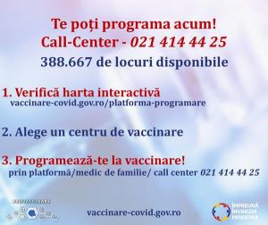 Noi îmbunătățiri pe platforma națională de vaccinare