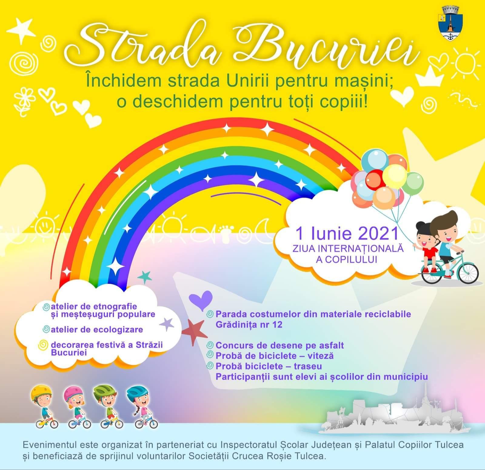 Bucurie, de Ziua Internațională Copilului, pe strada Bucuriei!