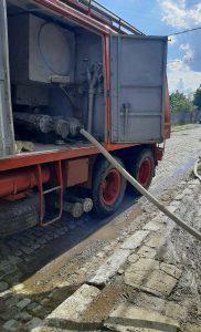 Patru gospodării au fost inundate la Măcin