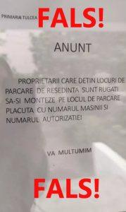 Au apărut mesaje false privind parcările de reședință din municipiu