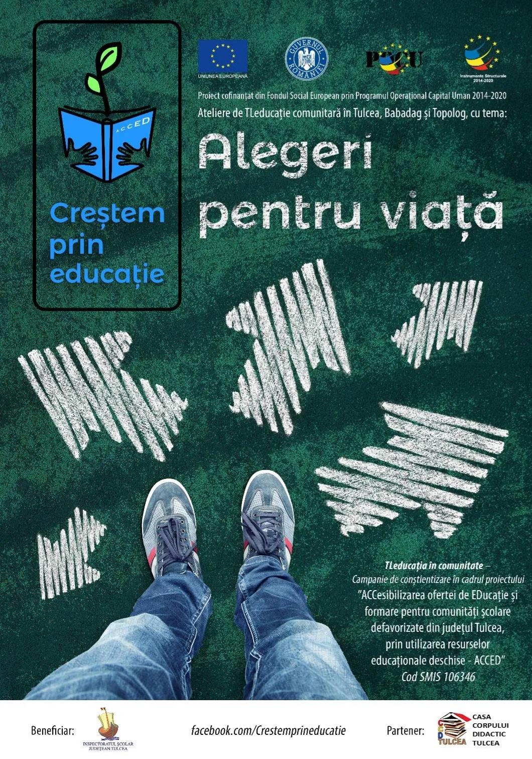 """""""Alegeri pentru  viață"""" – ateliere ACCED cu și pentru elevi tulceni"""