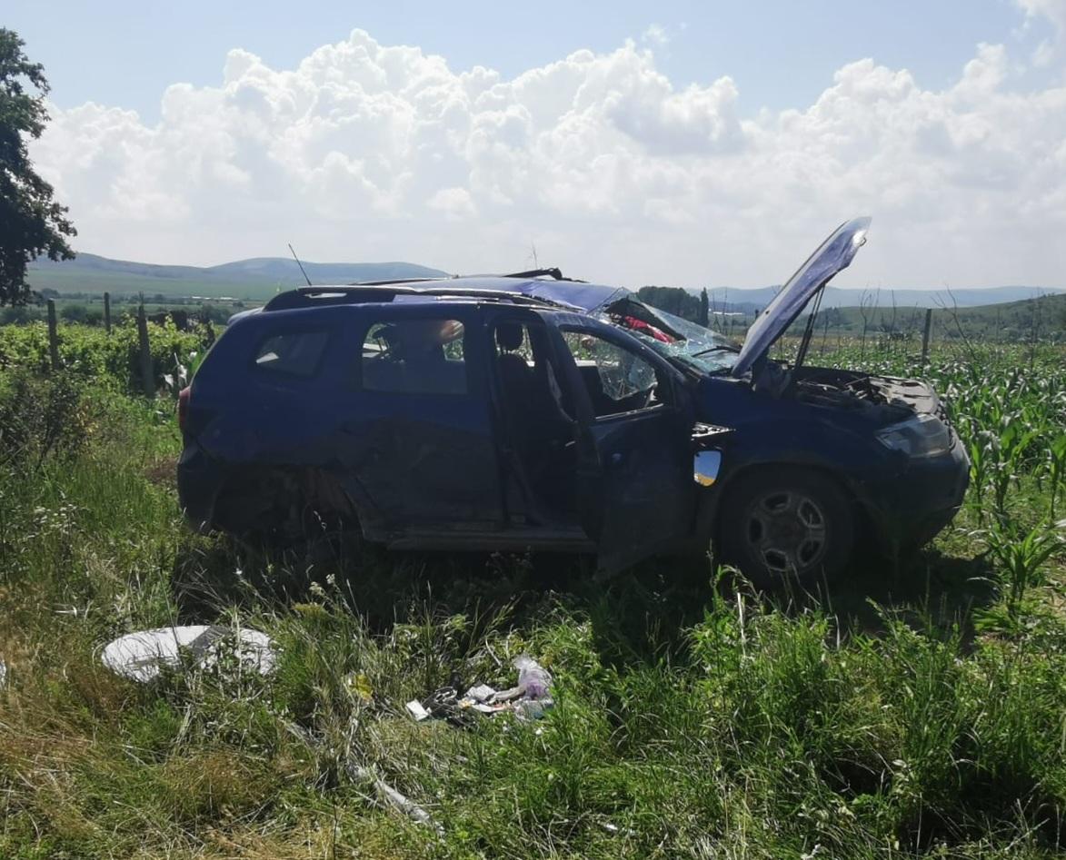 Coliziune între 2 auto cu 2 victime azi în județ