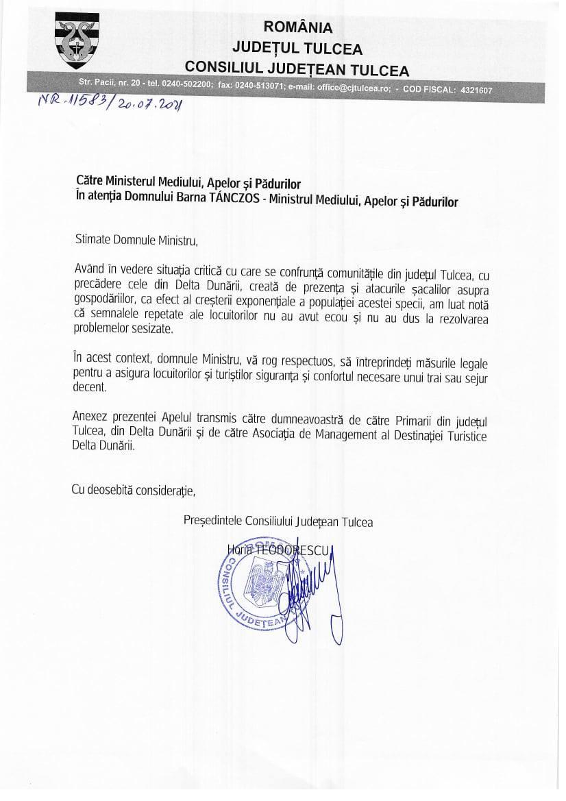 Horia Teodorescu: șacalii reprezintă un real pericol!