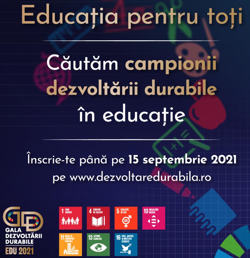 Guvernul caută campioni în educație la dezvoltare durabilă!