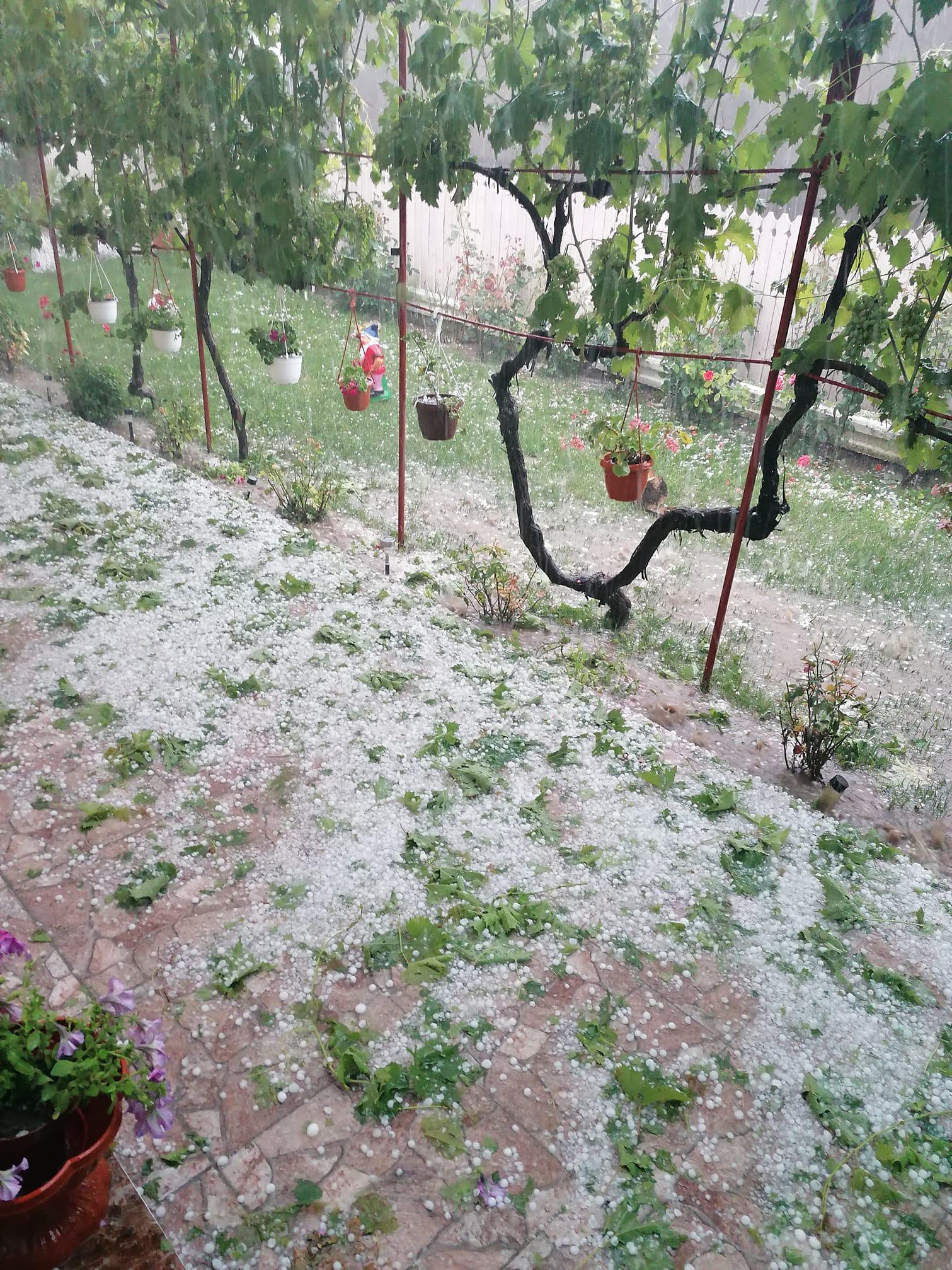 Grindină în Jijila și străzi distruse în Măcin!