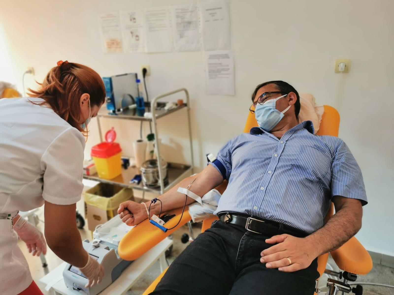 Prefectul județului Tulcea a donat sânge!