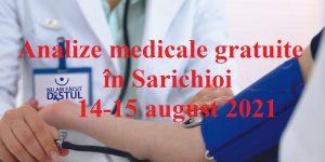 Caravană de analize medicale GRATUITE în Sarichioi