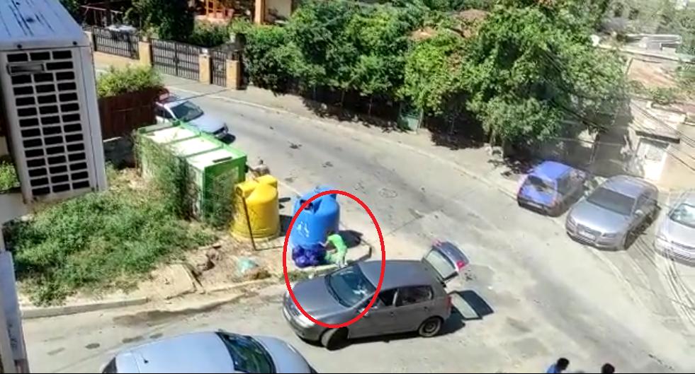 Tulceancă amendată, după ce a fost filmată aruncând, ilegal, gunoi