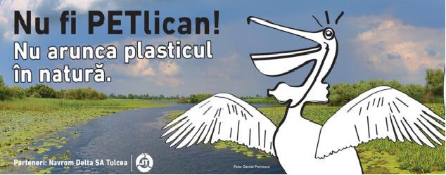 Nu fi PETlican! Nu arunca plasticul în natură!
