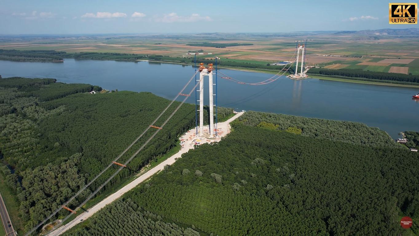 """""""Podul de la Brăila: lucrările avansează bine"""""""