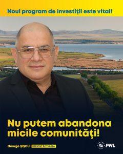 Șișcu: Noul program de investiţii Anghel Saligny este vital pentru micile comunităţi din Tulcea!