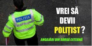 IPJ Tulcea angajează din sursă externă, prin încadrare directă, pe 10posturi vacante de ajutor șef de poliție rurală