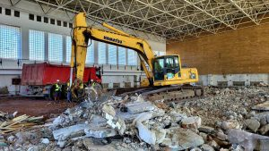 Sala Polivalentă din Tulcea este în curs de demolare
