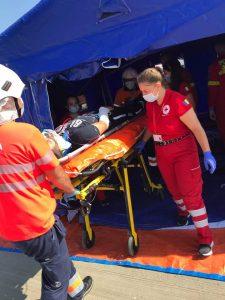 Exercițiu spectaculos pe aeroportul Delta Dunării Tulcea! S-a simulat un accident aviatic!