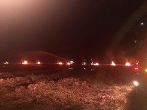 Trei incendii de vegetație în mai puțin de o oră