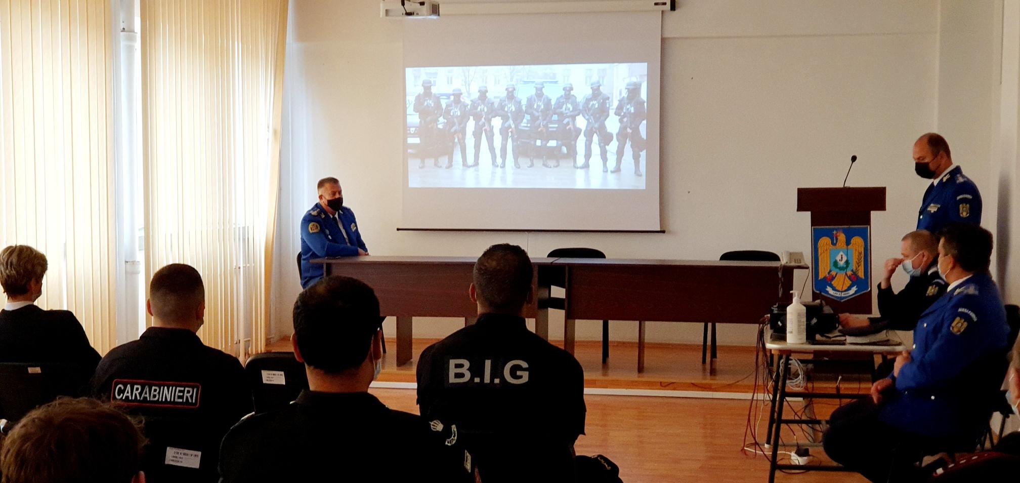 Carabinieri, dar și militari din alte opt state, în vizită la Jandarmeria Tulcea